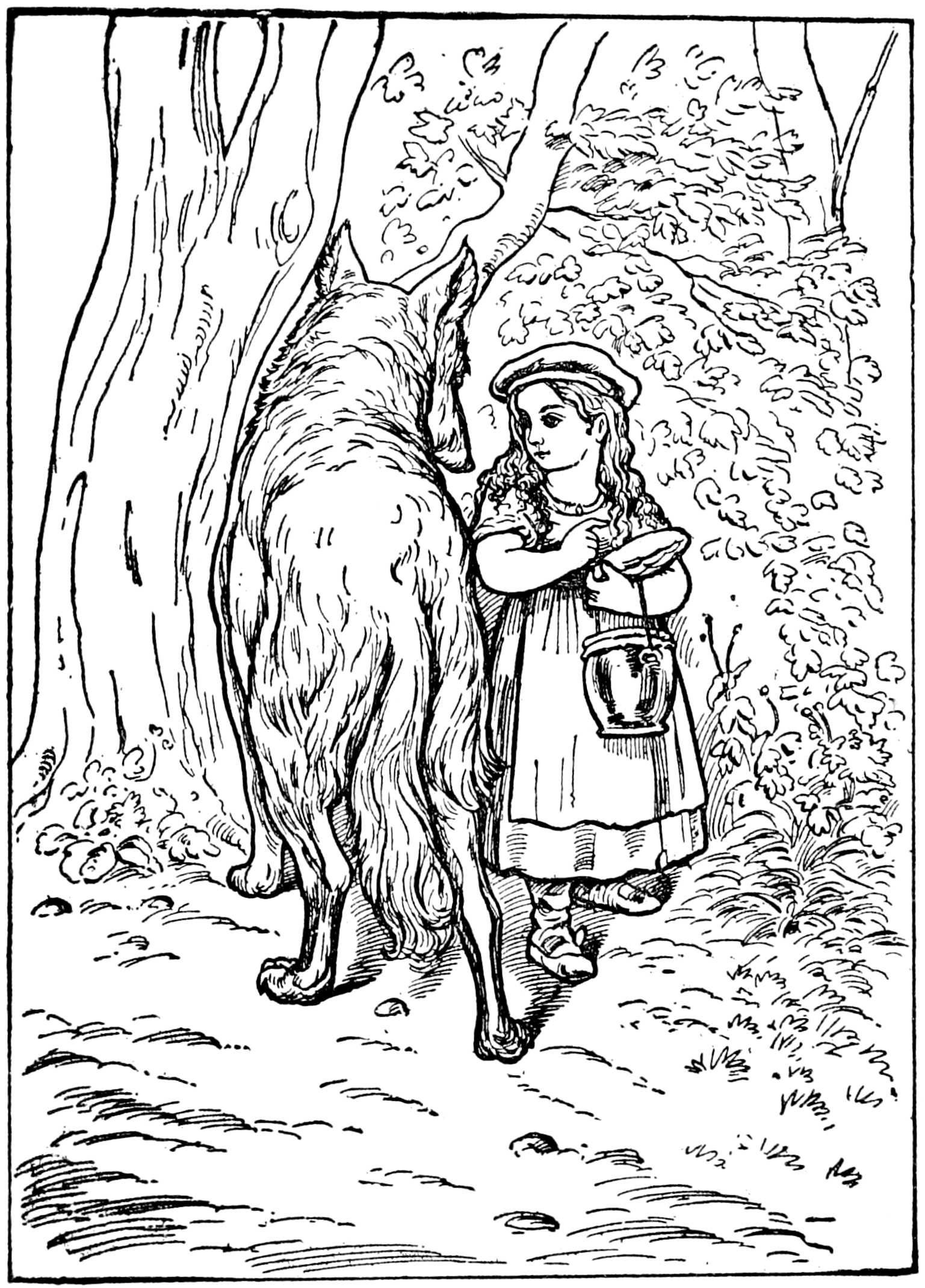 File:Little Red Riding-Hood in Tales of Mother Goose (Welsh). - Little Red Riding Hood PNG Black And White