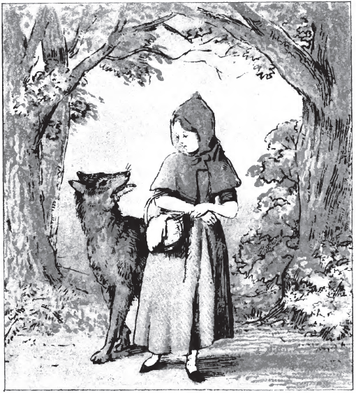 File:Little Red Riding Hood pg 8.png - Little Red Riding Hood PNG Black And White