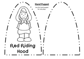 . PlusPng.com hand-puppets-black-and-white.pdf PlusPng.com  - Little Red Riding Hood PNG Black And White