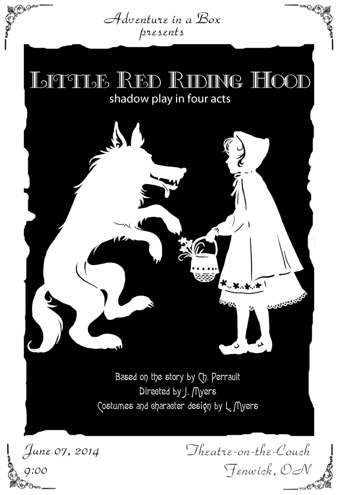 Little-Red-Riding-Hood-poster - Little Red Riding Hood PNG Black And White