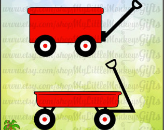 Kids SVG ~ Wagon ~ Little Red Wagon ~ Red Wagon ~ Kids Shirt ~ Birthday - Little Red Wagon PNG
