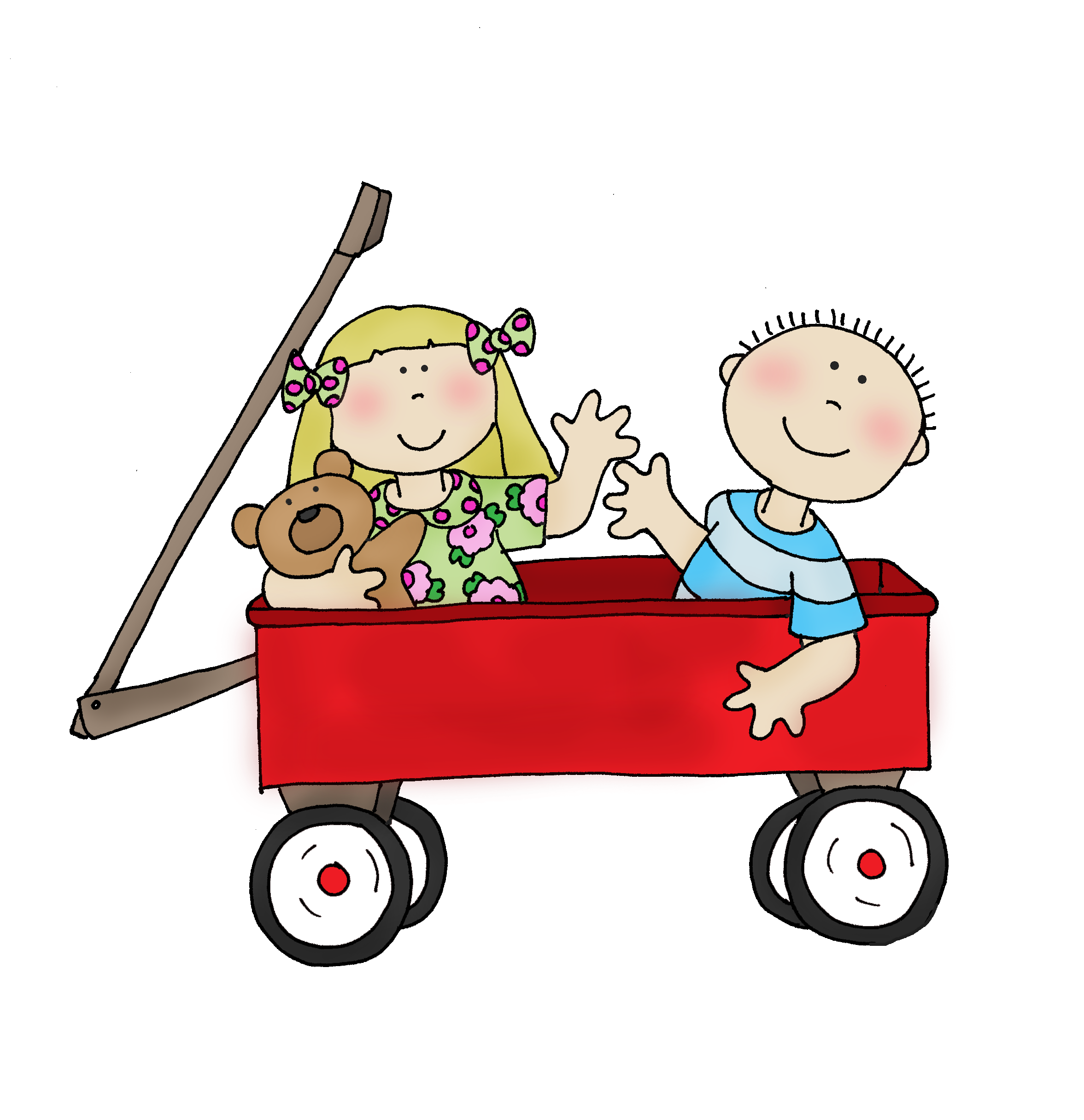 Little Red Wagon PNG - 54024