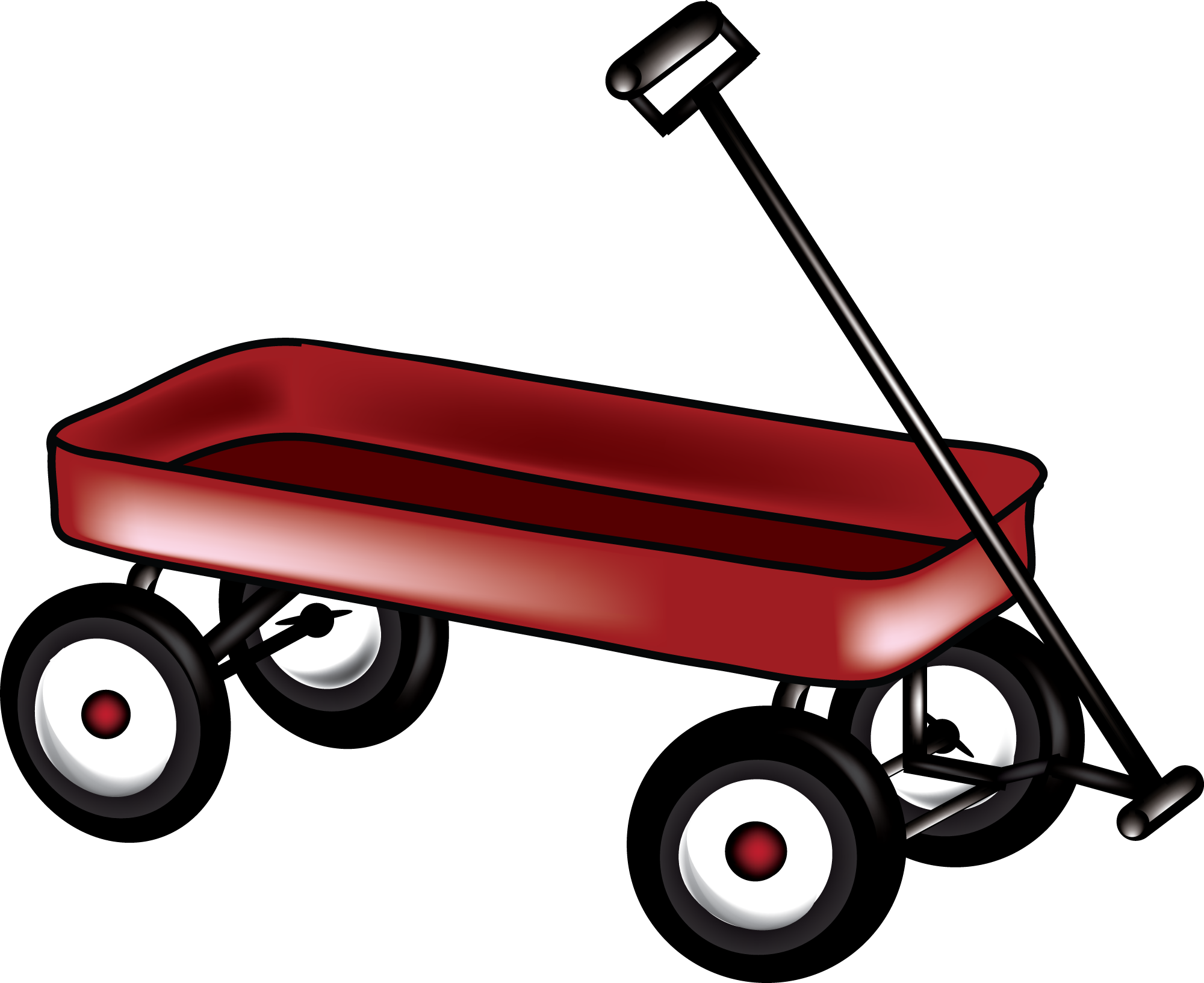 little red wagon clipart - Little Red Wagon PNG