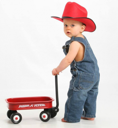 Red wagon boy - Little Red Wagon PNG