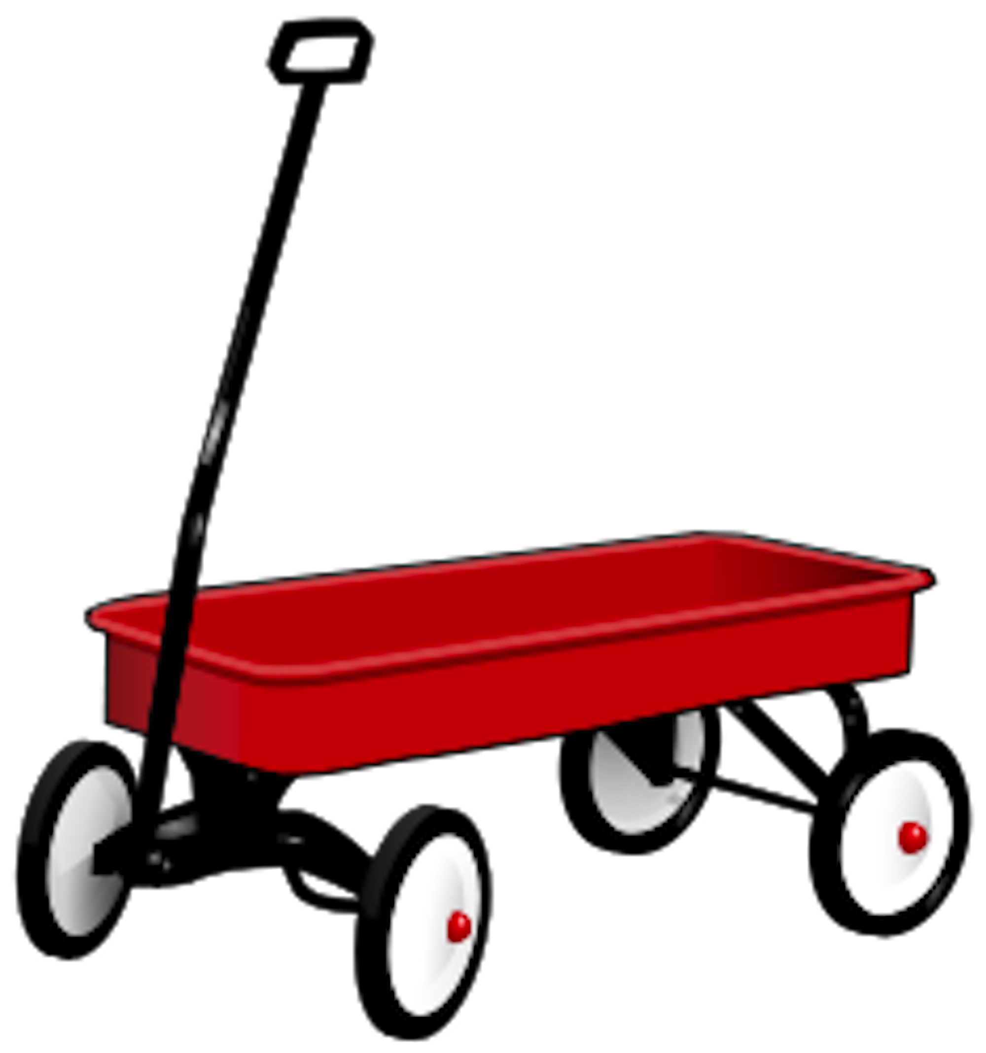 Red Wagon Clip Art Red wagon pictures - clipart - Little Red Wagon PNG