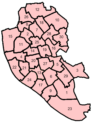 File:Liverpool City Council Wards Numbered.png - Liverpool City Council PNG