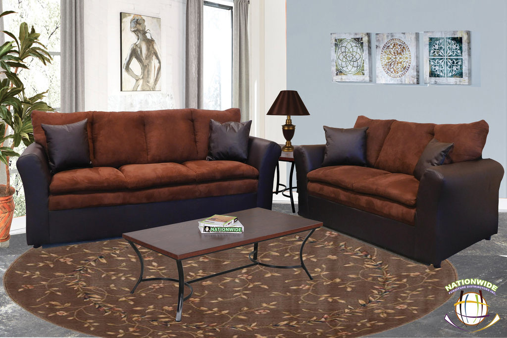 Harley Collection Sofa And Loveseat By HD Furniture - Living Room PNG HD