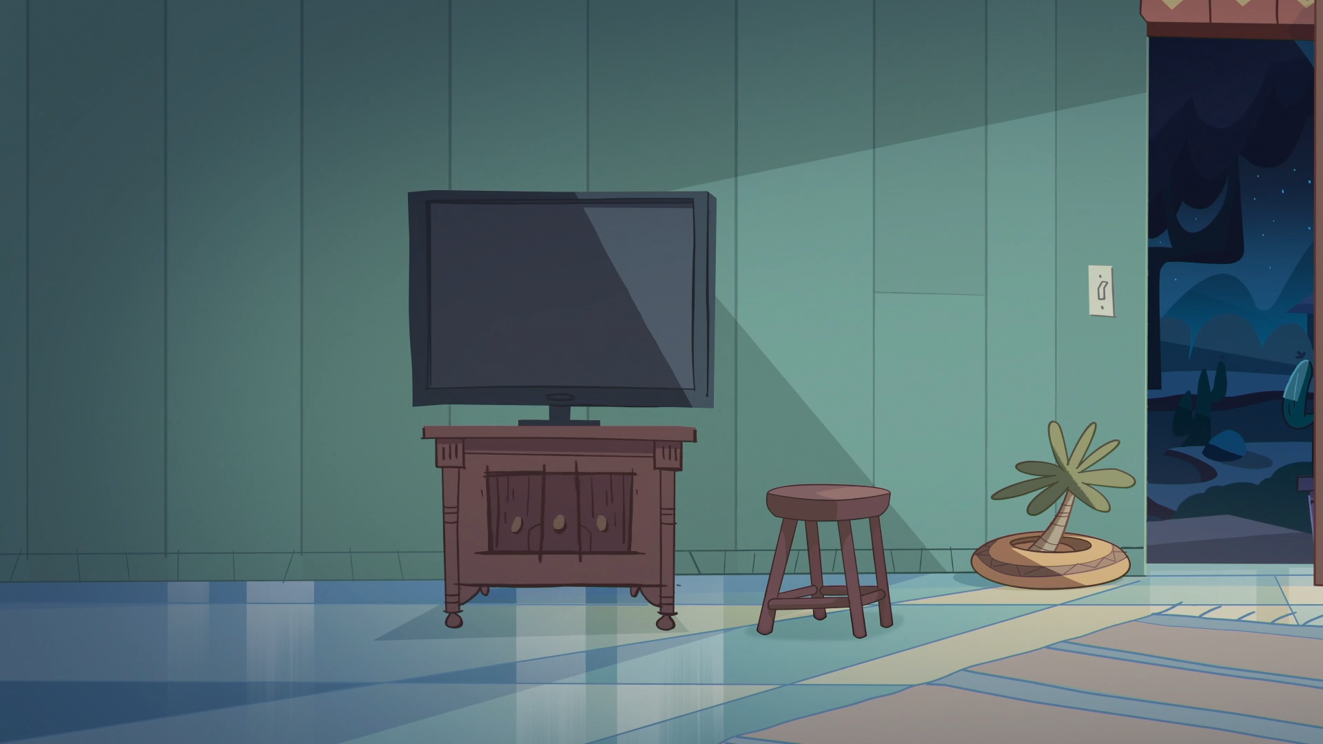 Storm The Castle Background - Diaz House Living Room.png - Living Room PNG HD