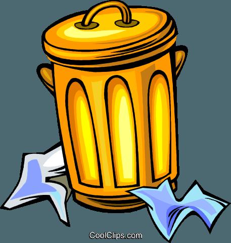 Lata de lixo livre de direitos Vetores Clip Art ilustração - Lixo PNG