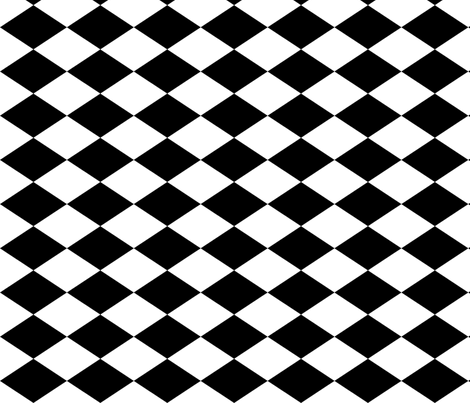 Large Harlequin Check in Blac