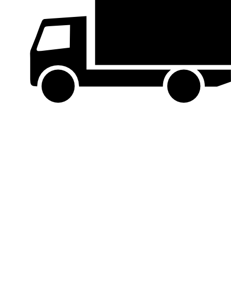PNG: small · medium · large - Lkw PNG Black And White