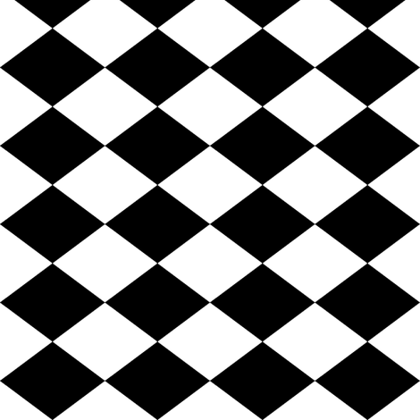 Small Harlequin Check in Black and White fabric by charmcitycurios on  Spoonflower - custom fabric - Lkw PNG Black And White