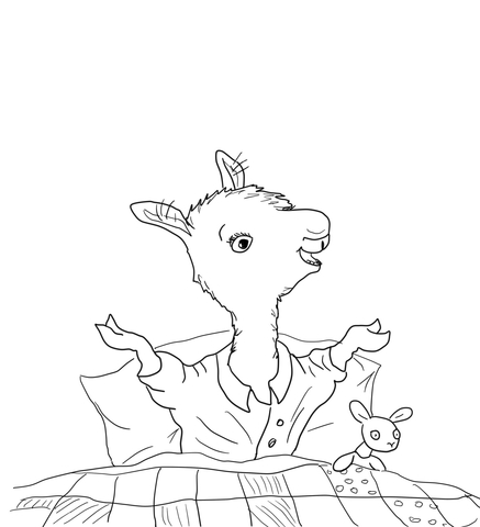 Click To See Printable Version Of Llama Llama Home With Mama Coloring Page - Llama Llama Red Pajama PNG