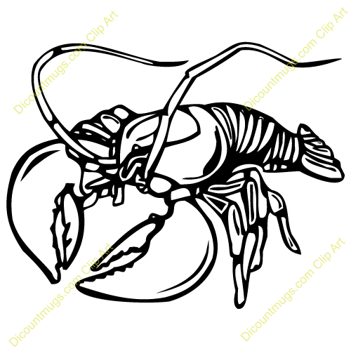Black and White Lobster Clipart - Lobster PNG Black And White