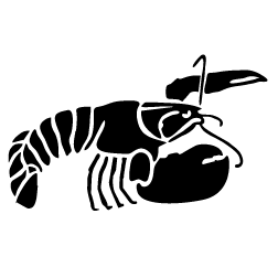 custom clipart - Lobster PNG Black And White