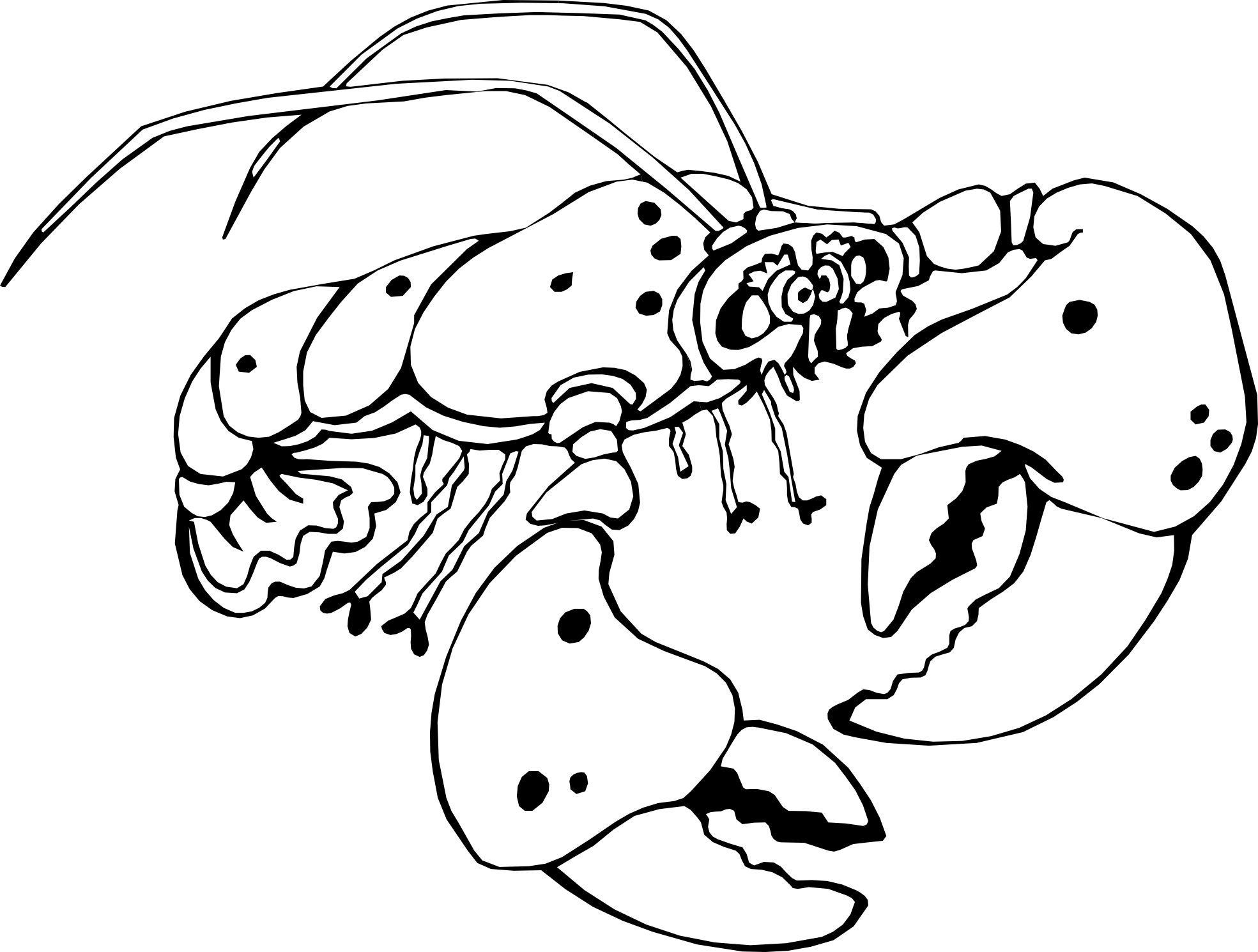 lobster clipart black and white - Lobster PNG Black And White