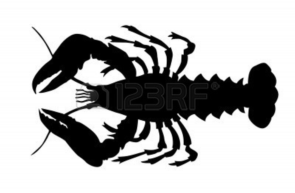 Lobster silhouette clipart - Lobster PNG Black And White