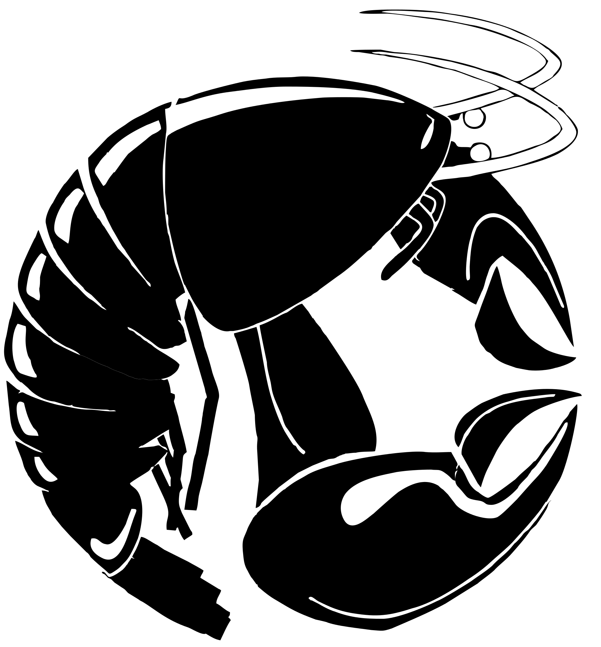 Open PlusPng.com  - Lobster PNG Black And White