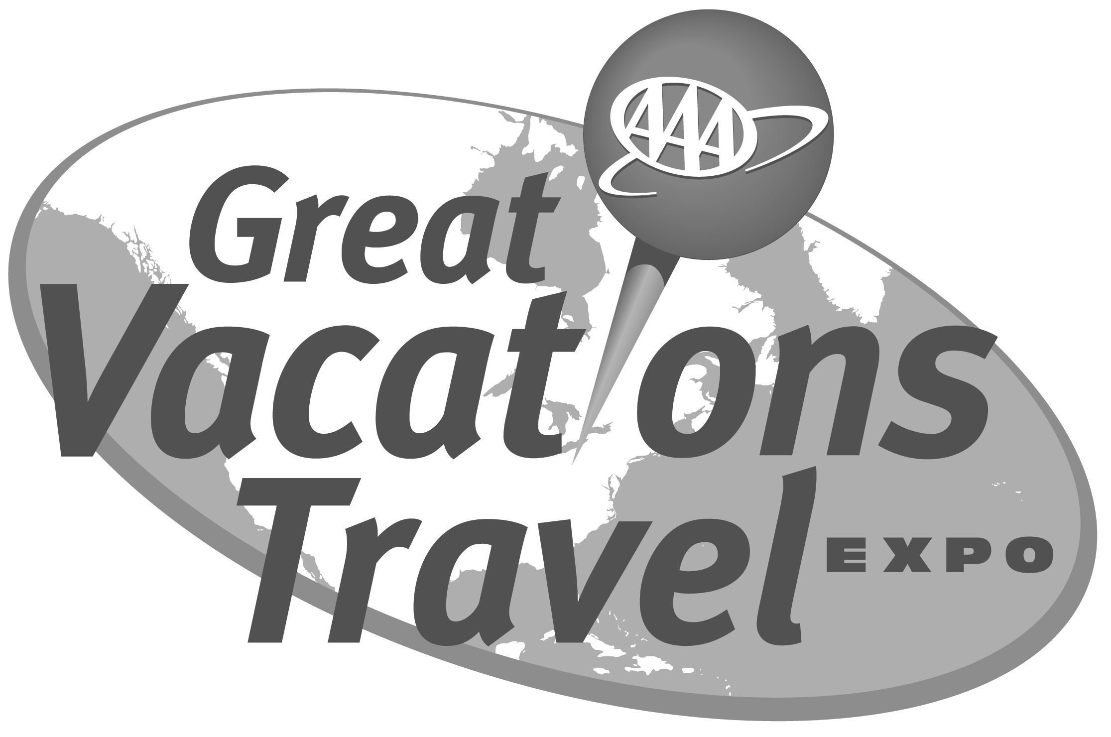 AAA GREAT VACATIONS TRAVEL EXPO LOGOS - Logo Aaa Travel PNG