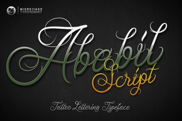 Ababil Free Tattoo Font Download 1 - Logo Ababil PNG
