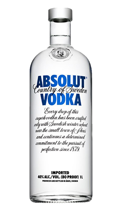 Absolut Vodka Blue 1000ml - Logo Absolut PNG