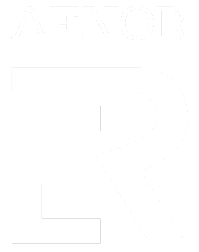 CONSIGUE CON NOSOTROS EL SELLO DE CALIDAD DEL INSTALADOR - Logo Aenor Black PNG