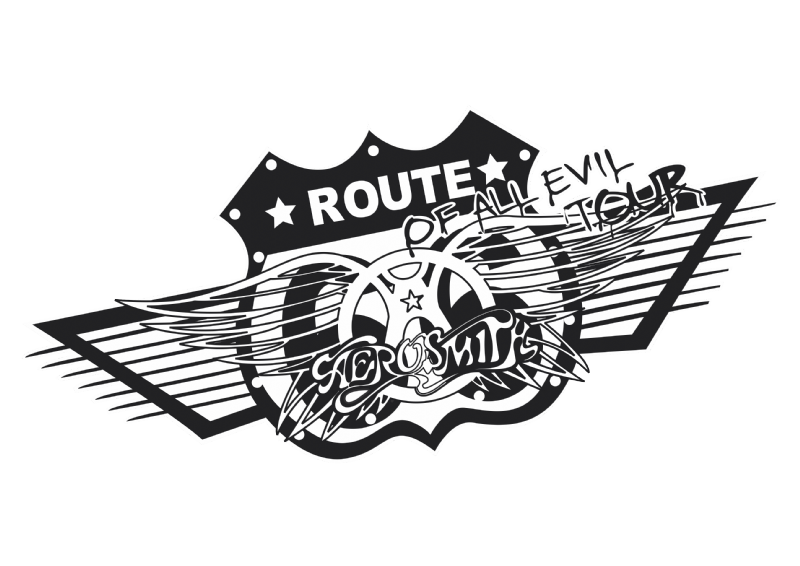 T-Shirt Feminina - Bandas de Rock - Aerosmith Route - Logo Aerosmith Route PNG