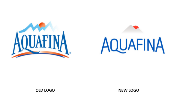 From supremacy to mediocracy identity logo design changes - Logo Aquafina PNG