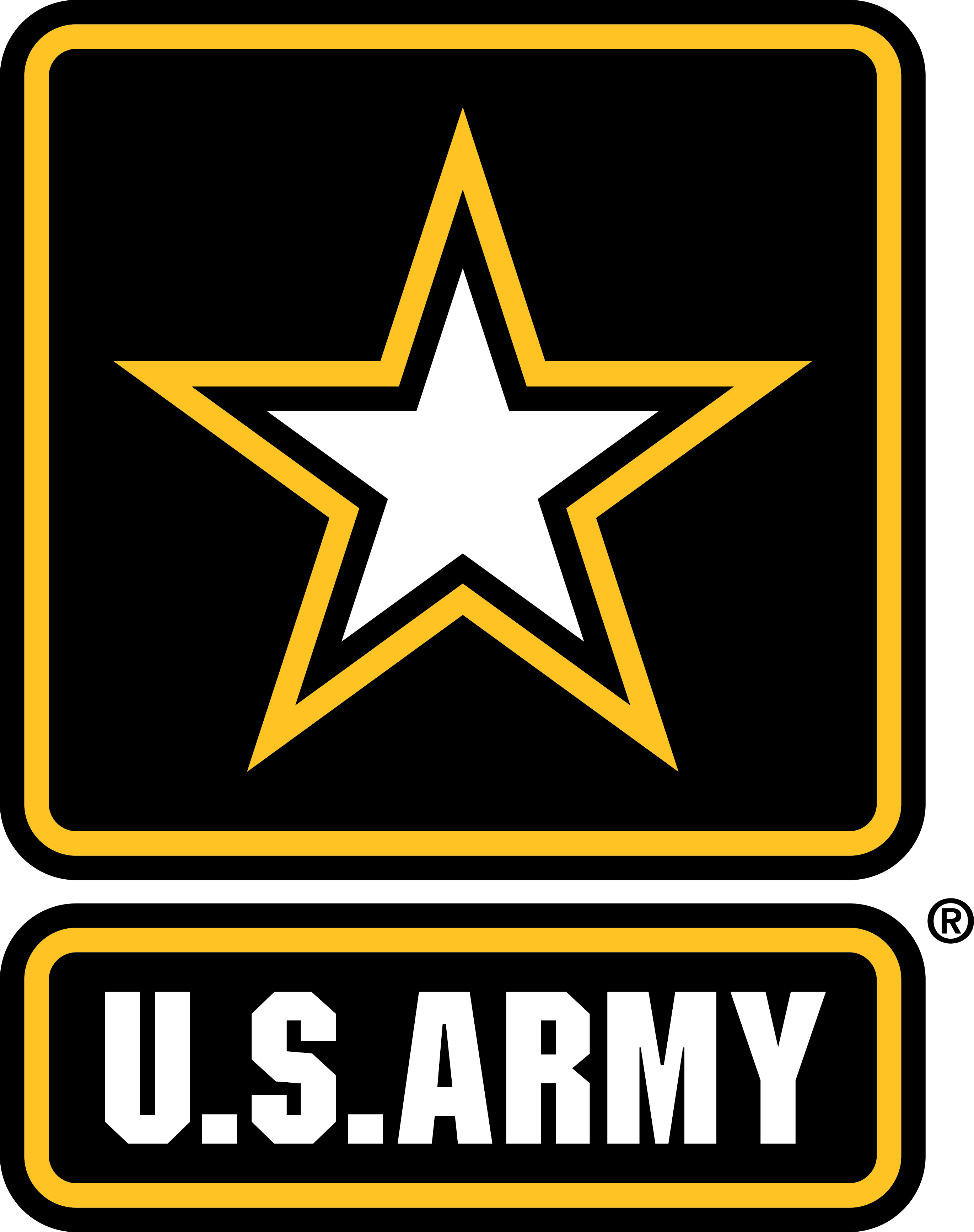 U.S. Army Logo. Black Trademark PNG - Logo Army Strong PNG