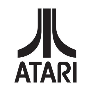 Atari Logo (Black) T-Shirt - Logo Atari PNG