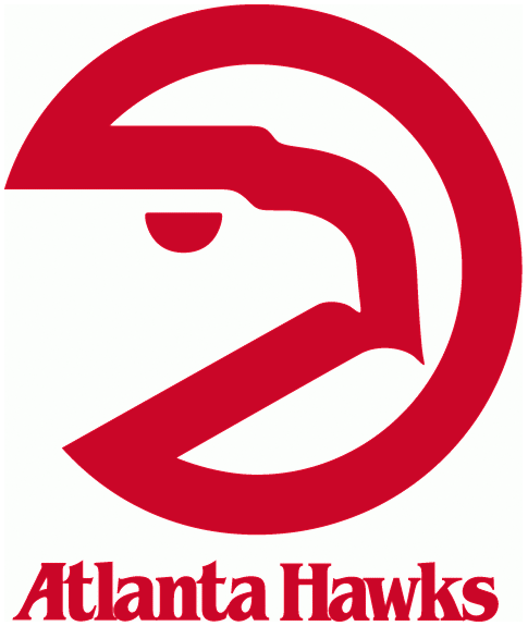 Atlanta Hawks Primary Logo (1973) - A red circle with a hawks head - Logo Atlanta Hawks PNG