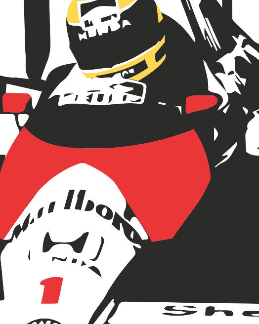Ayrton Senna poster by PosterBoys on Etsy - Logo Ayrton Senna S PNG