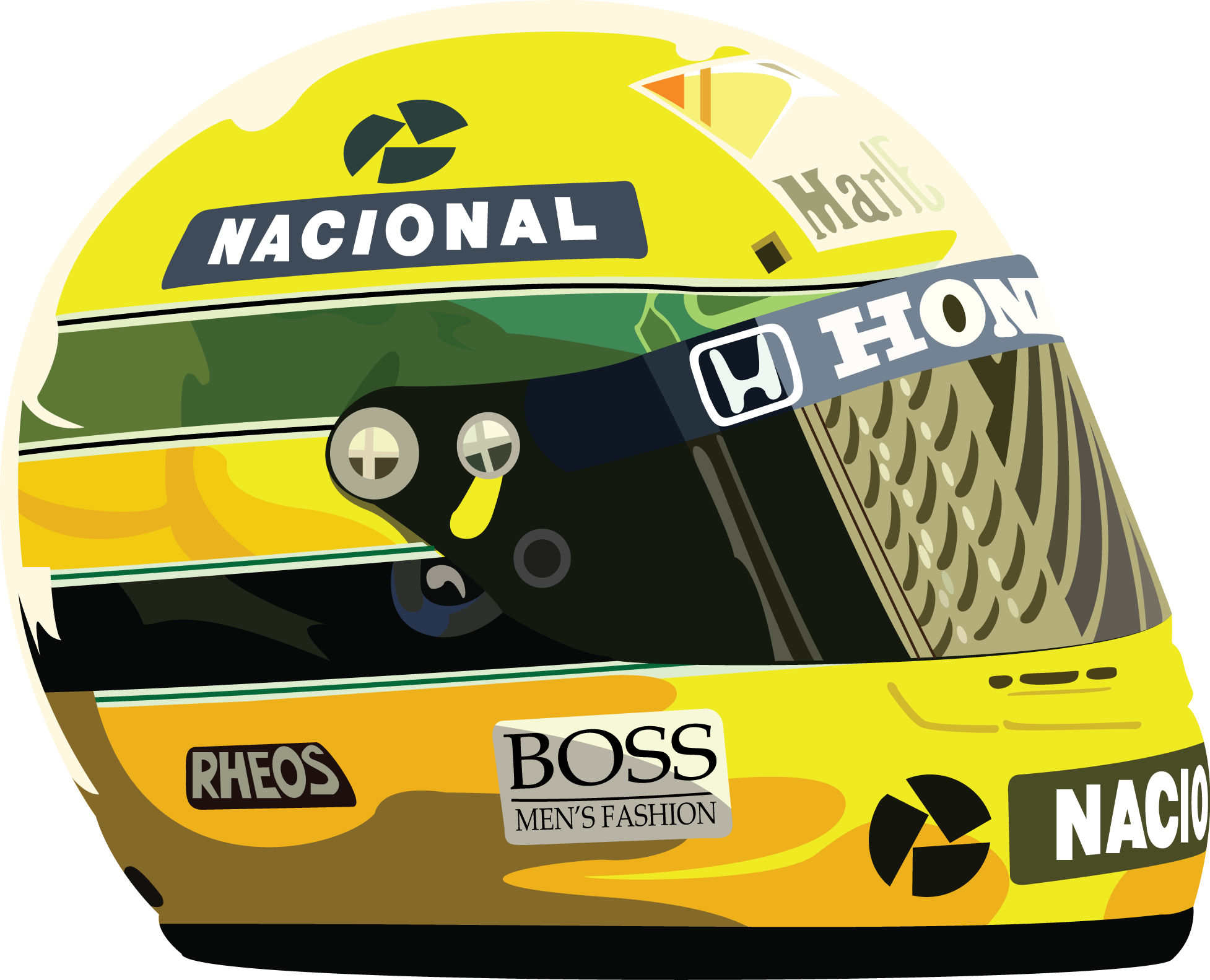 . PlusPng.com Vector u2013 Ayrton Senna PlusPng.com  - Logo Ayrton Senna S PNG