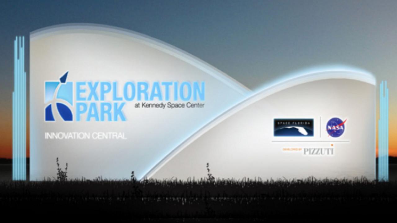 Exploration Park Sign - Logo Blue Origin PNG