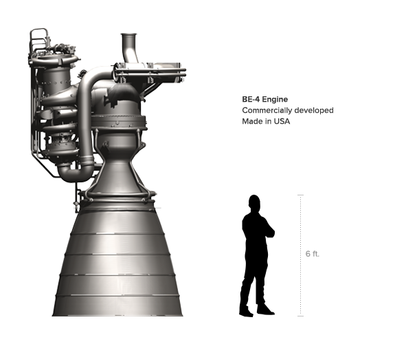 Learn more about the BE-4 - Logo Blue Origin PNG