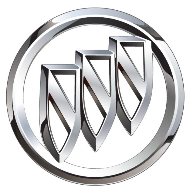 buick logo chrome tri shield - Logo Buick Black PNG