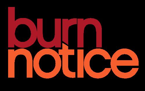 500px-Burn Notice logo.svg.png - Logo Burn PNG