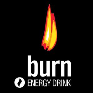 BURN Energy Drink Logo Vector - Logo Burn PNG