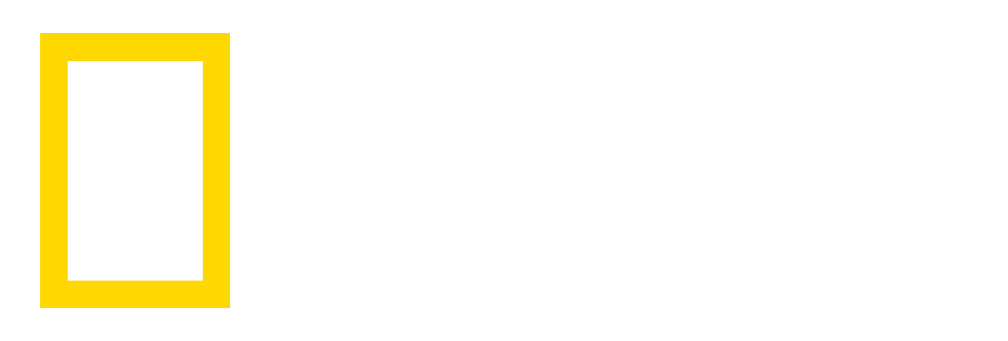 NG_LOGO_white.png - Logo National Geographic PNG