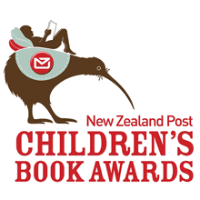 A drawing of child reading while reclining on cushions on the back of a  large Kiwi. The New Zealand Post Childrenu0027s Book Awards logo PlusPng.com  - Logo New Zealand Post PNG