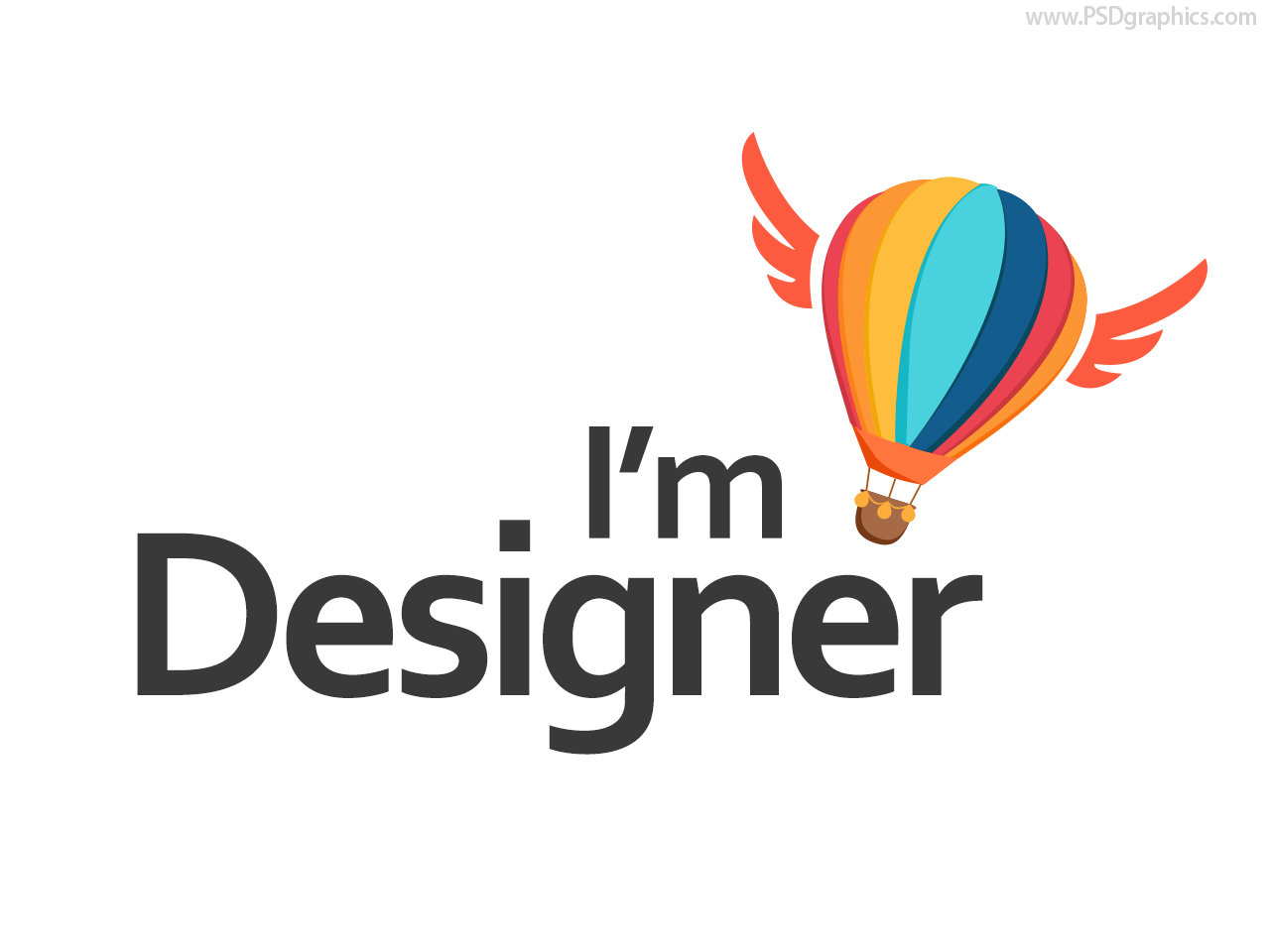 Full size PNG preview: Hot air balloon logo - Logo Template PNG