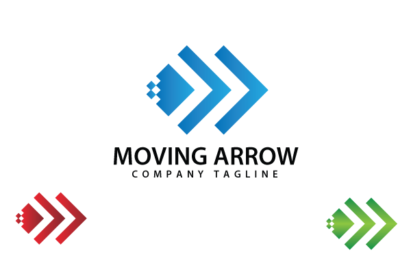 Moving Arrow Logo Template - Logo Template PNG