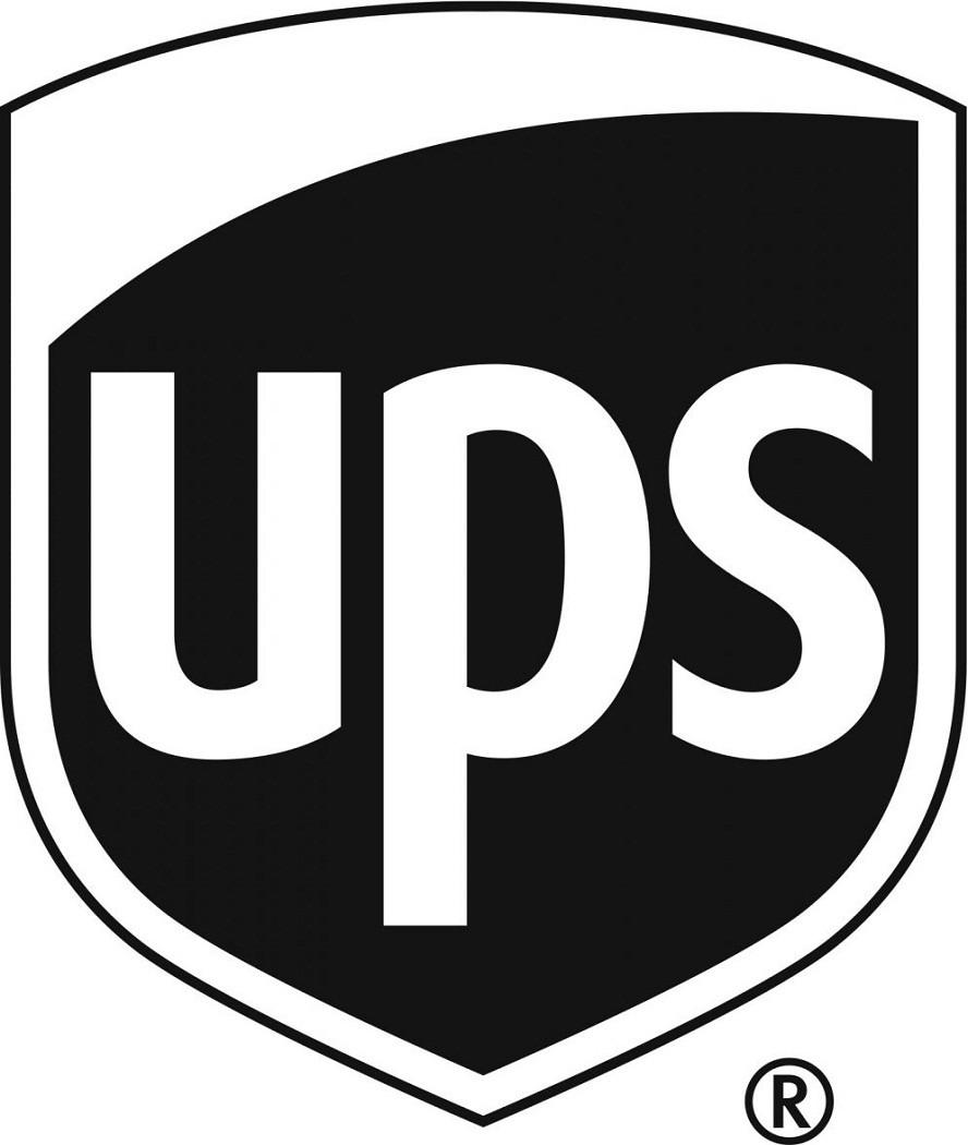 Ups Logo Vector blackand white - Logo Ups PNG
