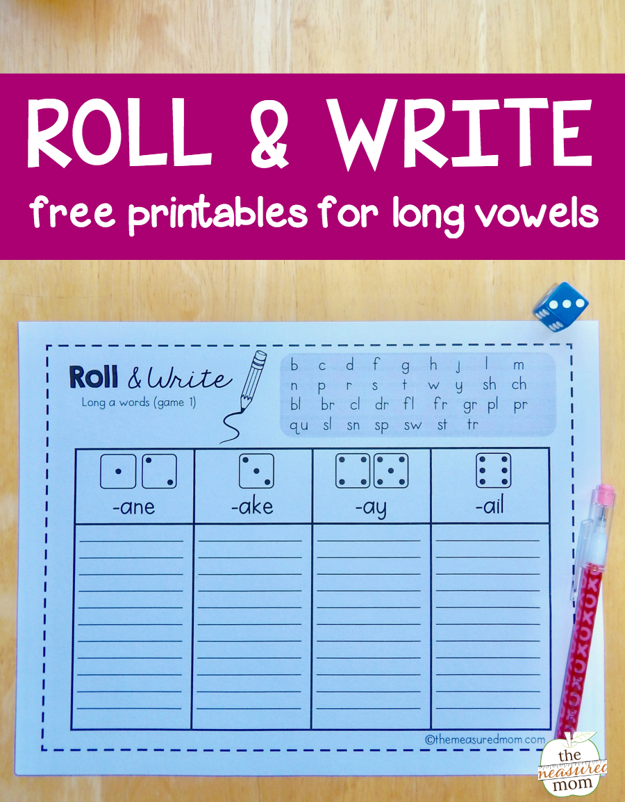 Grab These Free Games To Help Kids Spell Long Vowel Words! - The Measured  Mom - Long Vowel PNG