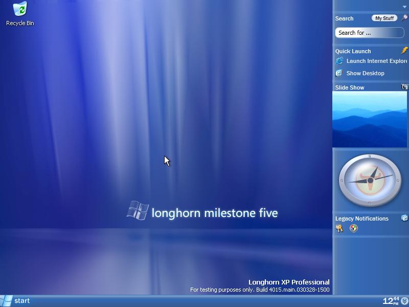Empty desktop in Longhorn 4015 - Longhorn HD PNG
