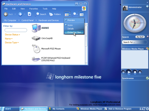 Microsoft Windows wallpaper entitled Windows Longhorn screenshot - Longhorn HD PNG