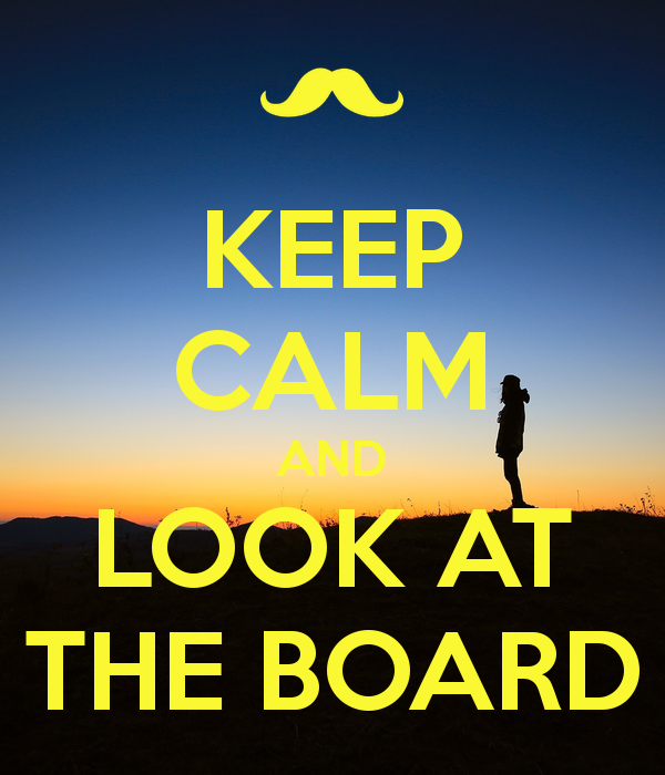 KEEP CALM AND LOOK AT THE BOARD - Look At The Board PNG