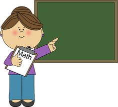 This is best Math Teacher Clipart #24821 Woman Math Teacher Clipart for  your project or - Look At The Board PNG