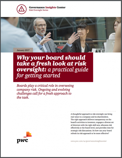 Why Boards Should Take a Fresh Look at Risk Oversight: a Practical Guide  for Getting Started - Look At The Board PNG