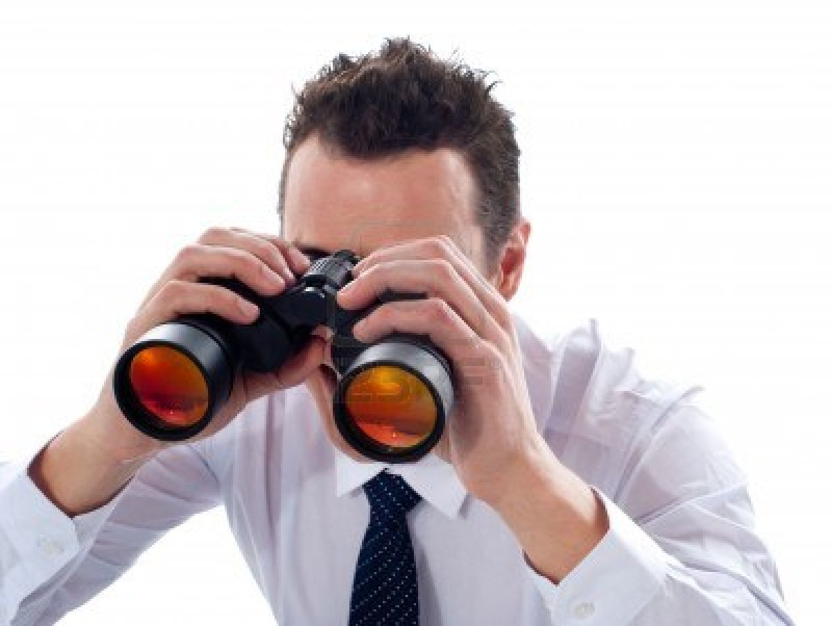 Looking Through Binoculars PNG - 45049